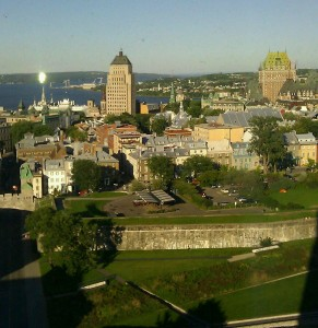 The view of Quebec City from my hotel room...the day BEFORE the marathon.