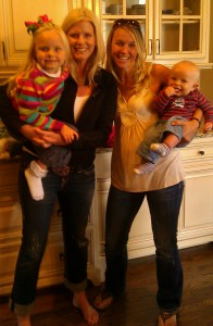 My BFF (Britta) and I with her younger 2 bambinos, Elin and Noah.  That equals 1/3 of our combined children.