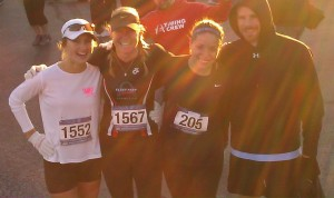 Marxkors, RRG, Nicole and Seth at the Gumbo Flats 5K.  All 4 of us took home an age group award...What Up?!