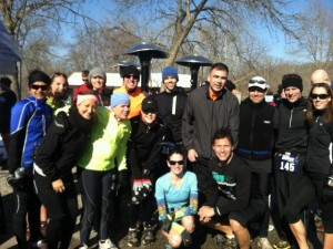 The awesome group of running peeps I was supposed to race with today.