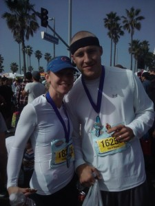 "RRG and ""Little"" brother after the Surf City half-marathon 2011.  I'm pretty sure we were quoting movie lines during that race."