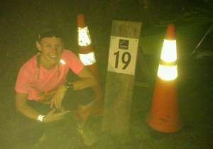 "RRG...smiling at the top.  This is why Nathan A has given me the nickname ""Leg 19"""