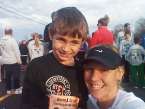 Ethan and I after his first 5k in November 2012