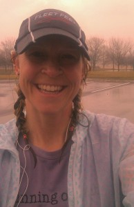 RRG after a very wet 17 miles.  Shirt says Running on Faith...because sometimes that's all you've got to go on.