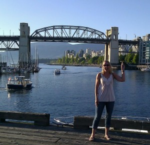 That's the Burrard St. Bridge I got to run over