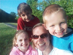 Hanging with my kiddos on Mother's Day