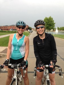 RRG and Tracy at the end of Saturday's ride