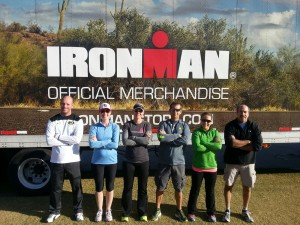 Kelly, Adrianne, RRG, Frenchy, Farrell and Ron...getting ready to take on IMAZ 2014