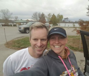 With Ken at Creve Coeur for a send off run